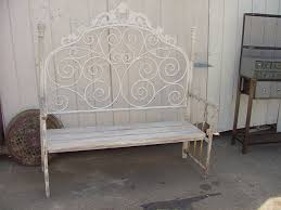 Iron Bedroom Bench Bench Made With Vintage Iron Headboard 200 Iron Headboard