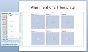alignment chart template in powerpoint