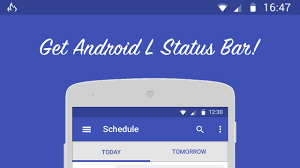 android bar get android l status bar on any version
