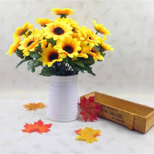 sunflowers decorations home artificial sunflower lifelike plastic sunflowers heads home party
