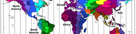 European Time Zone Map by Time Zones Wikitravel