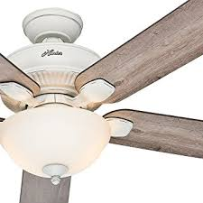brentford 52 inch reversible five blade indoor outdoor ceiling fan hunter fan 52 indoor outdoor cottage white ceiling fan with a bowl