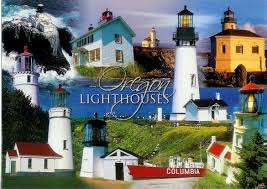 Oregon Lighthouse Map by Lighthouses In Oregon Remembering Letters And Postcards