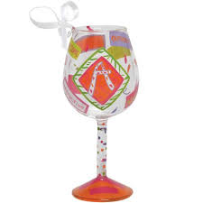 a mini wine glass ornament by wine glasses