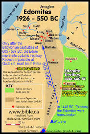 the historical transjordan territory of the edomites in the bible