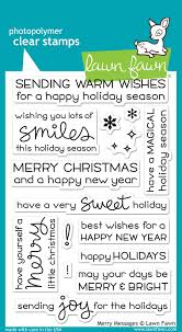 merry messages lawn fawn