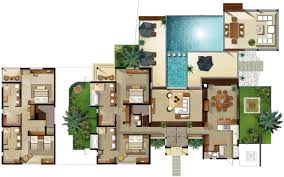 villa floor plan bedroom villa floor plan house plans 44629