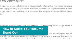 Ways To Make Resume Stand Out 15 Helpful Resume Writing Tips Articles