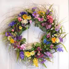 summer wreath featured summer wreaths silk flowers floral home decor