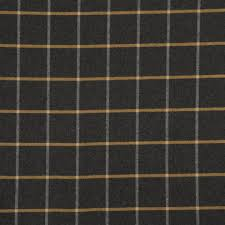 grey and mustard yellow large scale plaid upholstery fabric