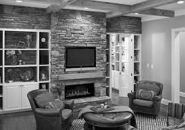 Garage Living by Living Room Living Room Design With Corner Fireplace And Tv