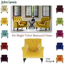 French Style Armchairs Uk Eye Catching Bright Buttoned Back Velvet Armchairs My Loveseat