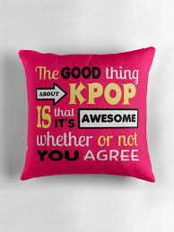 Pink Decorative Pillows Good Thing About Kpop Pink