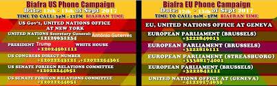 siege generali emergency biafra worldwide phone call caign alert call