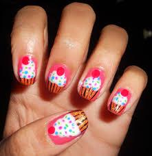 cute cupcake nail tutorial how to paint cupcake nail designs