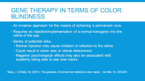Cause Of Color Blindness Gene Therapy For Red Green Color Blindness Mary Ellen Sweeney