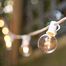 indoor outdoor lights in end to end connector globe string lights
