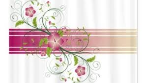 Swirl Shower Curtain Makanahele Com Shades Of Green Floral Swirl Shower Curtain