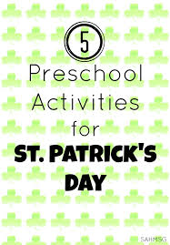 preschool activities for st patrick u0027s day the stay at home mom