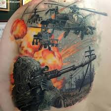 50 awesome army sniper design coolest army gun tattoos