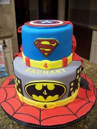 superhero cake spiderman batman superman u0026 captain america