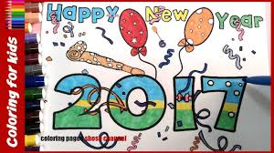 happy new year 2017 coloring books from coloring pages shosh