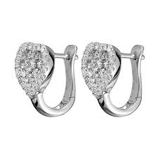 diamond stud earrings melbourne mazal diamond 0 58ct f i1 heart shaped diamond stud earrings