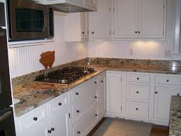 kitchen beadboard backsplash kitchen painting beadboard backsplash ideas with black gas stove