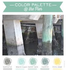 at the pier sea green color palette by delphine ephemera