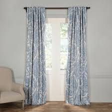 Rodeo Home Drapes by Exclusive Fabrics U0026 Furnishings Semi Opaque Tea Time China Blue
