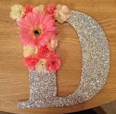 Letter L Wooden Desk Decorated Wooden Letter With Flowers Crafts Diy Pinterest