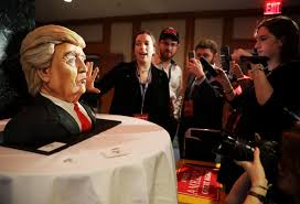 election 2016 trump receives cake that looks like him money