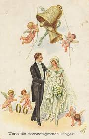 wedding bells rings images Vintage german wedding postcard when the wedding bells ring jpg