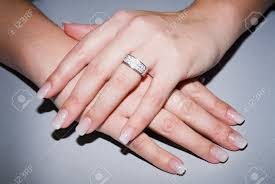 beautiful hand rings images Beautiful hands with fresh manicure and diamond ring stock photo jpg