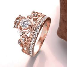 pretty rings images 2017 new design gold color rose gold color crown ring with jpg