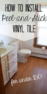 install peel and stick vinyl floor planks in the bathroom cheap