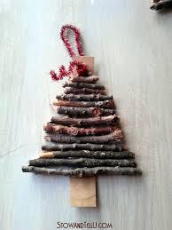 rustic twig and cardboard christmas tree ornaments stowandtellu
