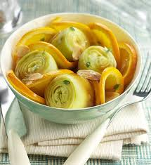 cuisiner coeur d artichaut cœurs d artichauts à l orange recette géant vert