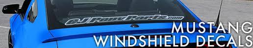 mustang windshield decal mustang windshield decals cj pony parts