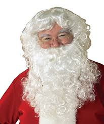 santa beard rubie s value santa beard and wig set white one size