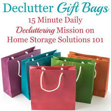 present bags how to declutter gift bags