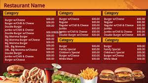 fast food cashier resume examples restaurant signage templates signagecreator arduous fastfood menu