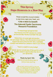 Fundraising Invitation Card A Rare Cancer Journey
