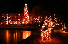 Christmas Lights Colorado Springs Lake Broadmoor Hotel Colorado Springs Colorado Co A Photo
