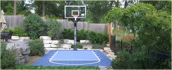 Backyard Basketball Court Backyard Courts
