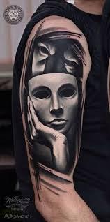 best 25 mask tattoo ideas on pinterest weird tattoos bipolar