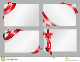 white paper with ribbon design stock vector illustration of