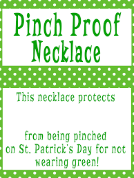 st patrick u0027s day craft pinch proof protection necklaces craft