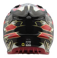 lightest motocross helmet 2018 troy lee designs se4 maze black red carbon motocross helmet