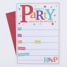 there s a party invitations pack of 20 only 1 29